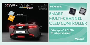 MLX81130 - Smart multi-channel OLED controller with 25 drivers