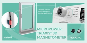 Melexis reveals compact low-voltage 3D magnetometer for consumer applications